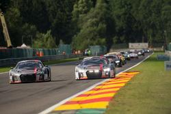 #5 Audi Sport Team WRT Audi R8: Marcel Fässler, Dries Vanthoor, Will Stevens, #76 Audi Sport Team IS