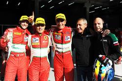 GTE yarış galibi Gianluca Roda, Giorgio Roda, Andrea Bertolini, Graff Racing
