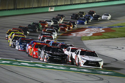 Kyle Benjamin, Joe Gibbs Racing Toyota and Ryan Preece, Joe Gibbs Racing Toyota leads the field to the green flag