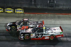 Ben Rhodes, ThorSport Racing Toyota and Jesse Little, Triad Racing Technologies Toyota Tundra