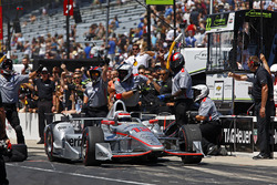 Will Power, Team Penske Chevrolet, wins the Pit Stop Competition