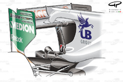 Force India VJM03 rear wing with F-duct layout