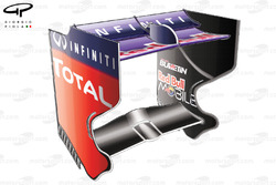 Red Bull RB9 rear wing, Italian GP