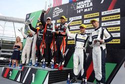 LMP2 podium: winners #22 G-Drive Racing, Oreca 07 - Gibson: Memo Rojas, Ryo Hirakawa, Leo Roussel, s
