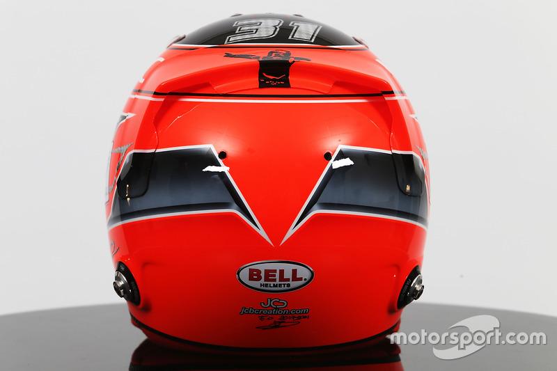 Le casque d'Esteban Ocon, Sahara Force India F1 Team