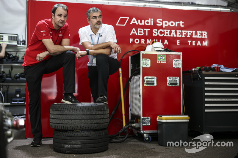 Thomas Biermaier, ABT Schaeffler Audi Sport y Dieter Gass, Jefe de Audi Sport