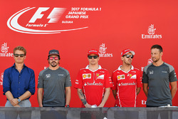 Nico Rosberg, Mercedes-Benz Ambassador, Fernando Alonso, McLaren, Kimi Raikkonen, Ferrari, Sebastian Vettel, Ferrari and Jenson Button, McLaren