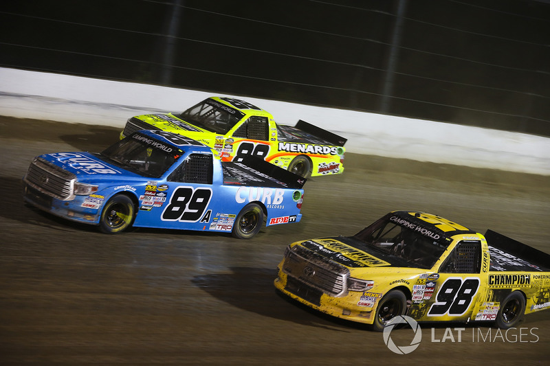 Rico Abreu, ThorSport Racing Toyota, Grant Enfinger, ThorSport Racing Toyota, and Matt Crafton, ThorSport Racing Toyota