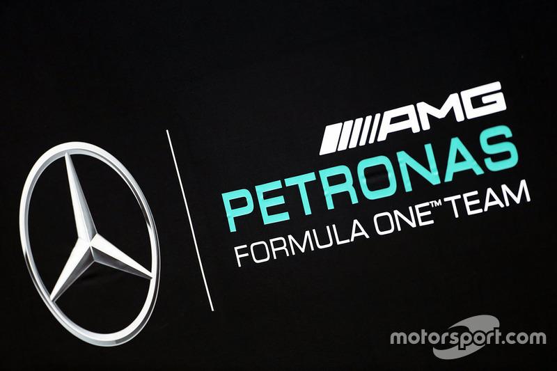Mercedes Amg F1 Team Logo At Mercedes Amg F1 W07 Launch