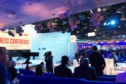 The press conference studio