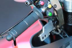 La leva a pollice che azione il freno posteriore sulla moto di Lorenzo, Ducati Team