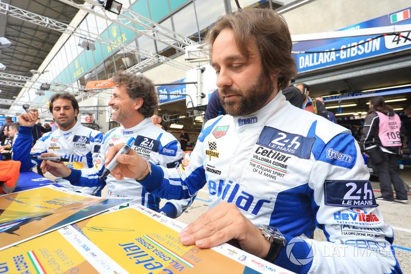 #47 Cetilar Villorba Corse Dallara P217 Gibson: Roberto Lacorte, Giorgio Sernagiotto, Felipe Nasr
