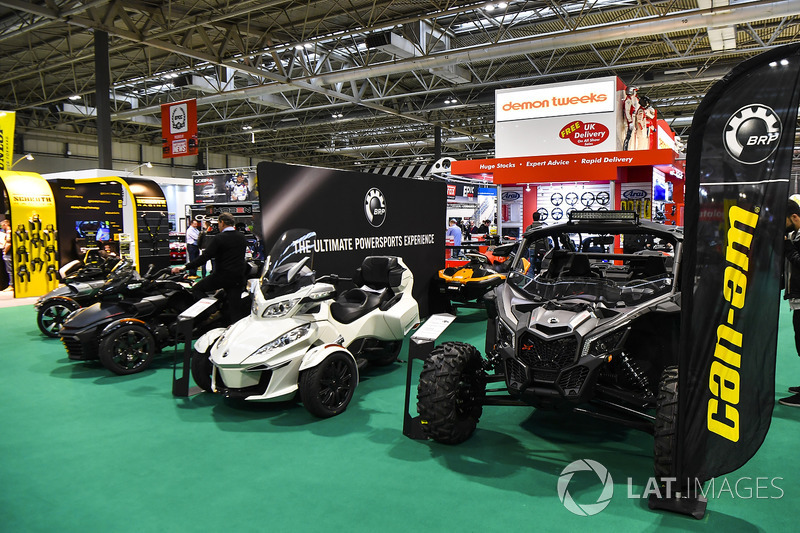 The BRP Powersports stand