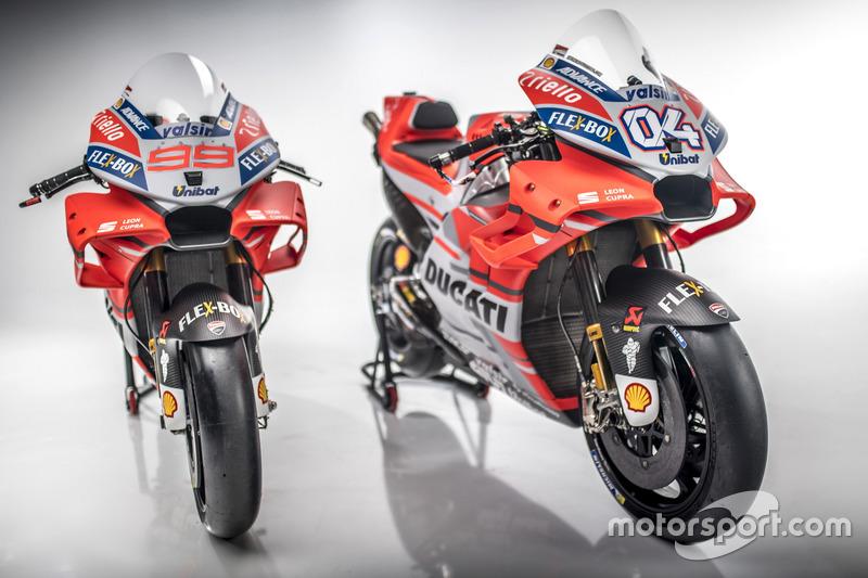 Motos de Andrea Dovizioso y  Jorge Lorenzo, Ducati Team