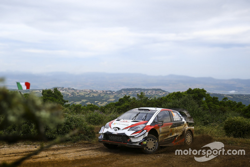 Отт Тянак и Мартин Ярвеоя, Toyota Yaris WRC