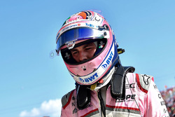 Sergio Perez, Force India VJM11 in parc ferme