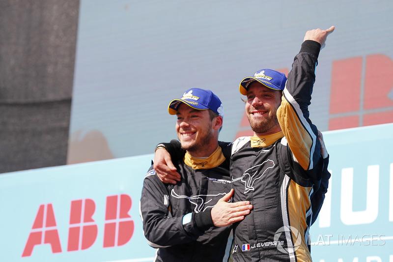Jean-Eric Vergne, Techeetah, Andre Lotterer, Techeetah signent le premier doublé de l'Histoire de la Formule E