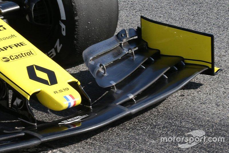 Renault F1 Team R.S.19, dettaglio dell'ala anteriore