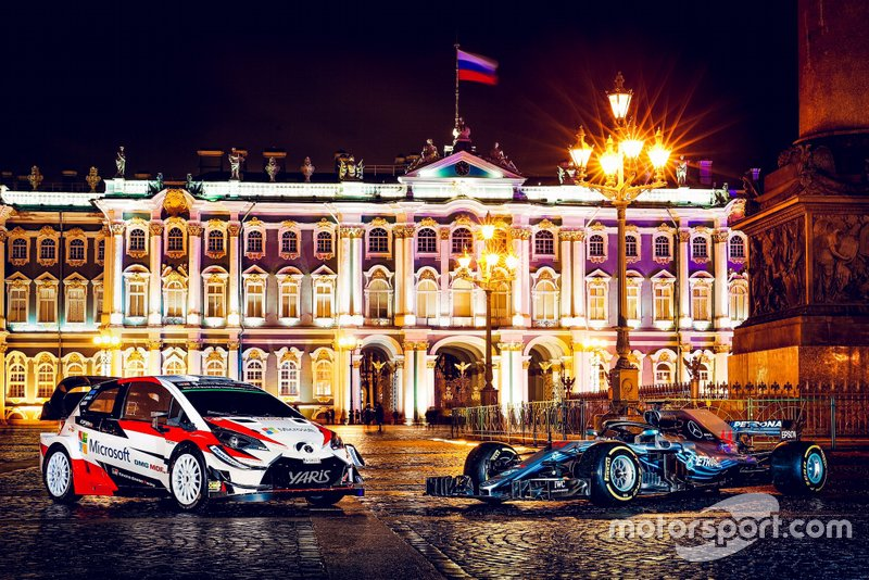 Toyota Yaris WRC e Mercedes-AMG F1 W09