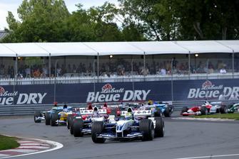 Start zum GP Kanada 2003 in Montreal: Ralf Schumacher, Williams FW25, führt