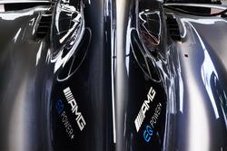 Le capot moteur de la Mercedes AMG F1 W08