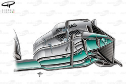 Mercedes W05 front wing