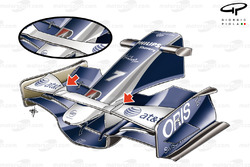 Williams FW30 2008 Istanbul front wing and nose