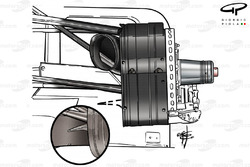 McLaren MP4-20 front brake duct detail