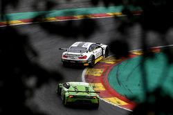 #98 Rowe Racing BMW M6 GT3: Bruno Spengler, Nicky Catsburg, Tom Blomqvist, #19 GRT Grasser Racing Team Lamborghini Huracan GT3: Ezequiel Perez Companc, Rolf Ineichen, Raffaele Giammaria