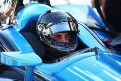 Хуан-Пабло Монтойя тестирует машину IndyCar Chevrolet 2018 года