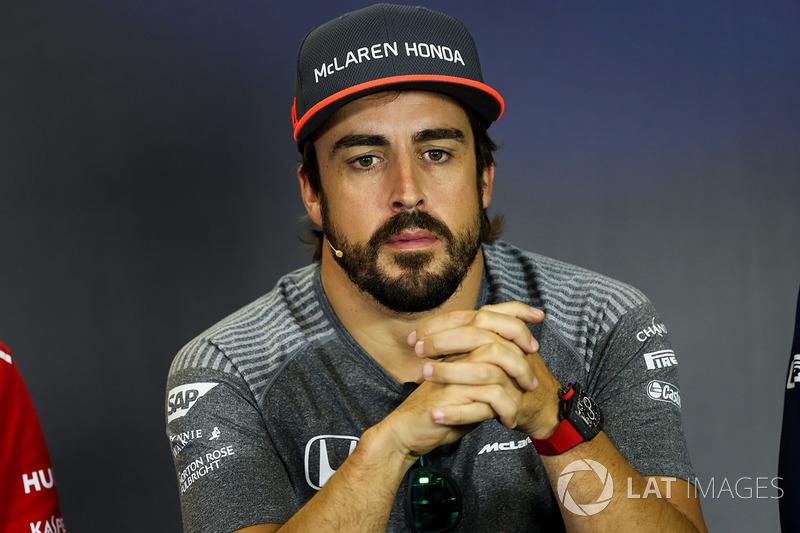 Fernando Alonso, McLaren en la conferencia de prensa