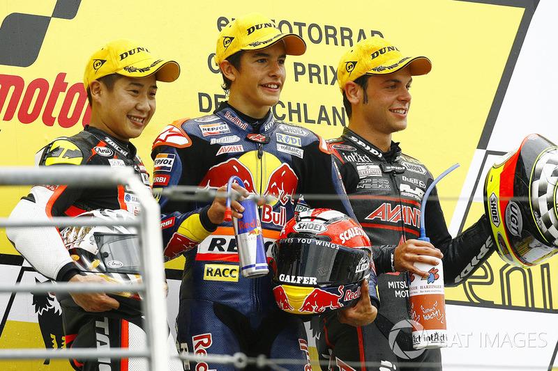 Podium: 1. Marc Marquez, 2. Tomoyoshi Koyama, 3. Sandro Cortese