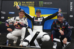 Подіум: Йохан Крістофферссон, PSRX Volkswagen Sweden, VW Polo GTi, друге місце Маттіас Екстрьом, EKS, Audi S1 EKS RX Quattro, третє місце Себастьян Льоб, Team Peugeot-Hansen, Peugeot 208 WRX