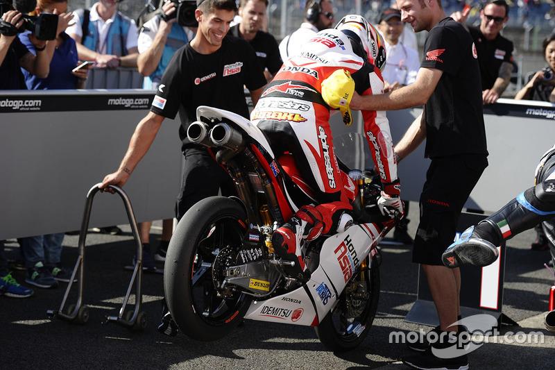 Polesitter Hiroki Ono, Honda Team Asia