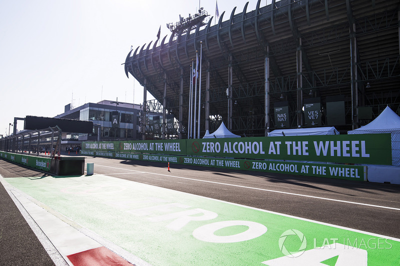 Detalle del circuito del Autódromo Hermanos Rodríguez