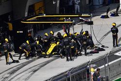 Nico Hulkenberg, Renault Sport F1 Team R.S. 18 au stand