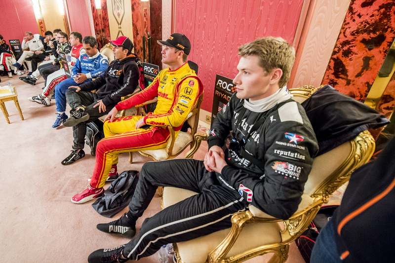 Josef Newgarden Ryan Hunter-Reay and others backstage