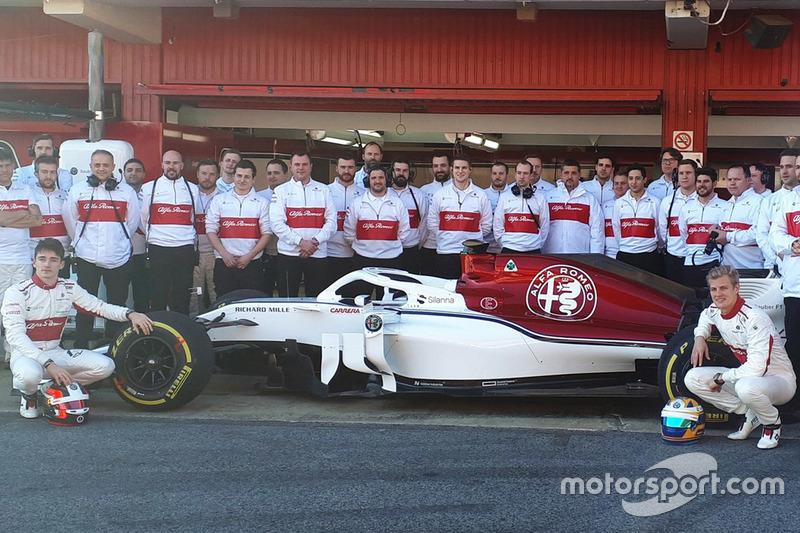 Marcus Ericsson, Charles Leclerc, Sauber ve takım elemanları