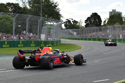 Max Verstappen, Red Bull Racing RB14 recovers from a spin