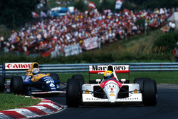Ayrton Senna, McLaren MP4/6; Riccardo Patrese, Williams FW14