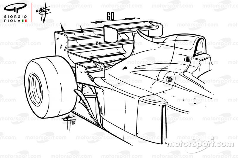 Jordan 196 dengan sayap tambahan, GP Monako 1996