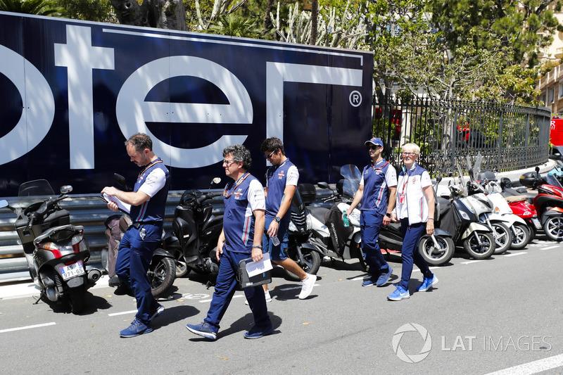 Lance Stroll, Williams Racing, lors de la reconnaissance de piste
