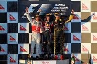 Podium: 1. Sebastian Vettel, Red Bull; 2. Lewis Hamilton, McLaren; 3. Vitaly Petrov, Lotus