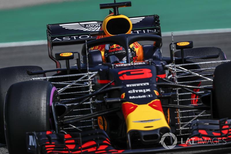 Daniel Ricciardo, Red Bull Racing RB14 avec des capteurs aérodynamiques