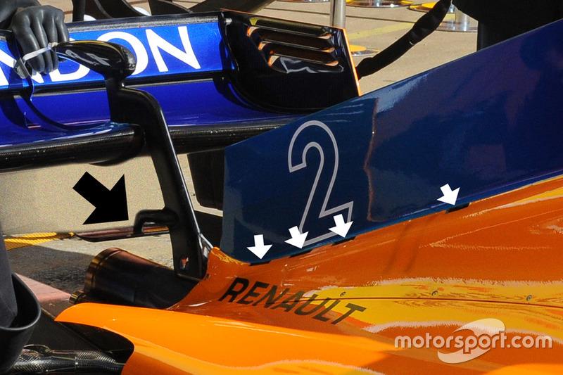 McLaren MCL33: Kühlschlitze