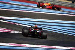 Daniel Ricciardo, Red Bull Racing RB14, chases Max Verstappen, Red Bull Racing RB14