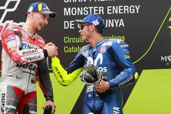 Podium: Jorge Lorenzo, Ducati Team, Valentino Rossi, Yamaha Factory Racing