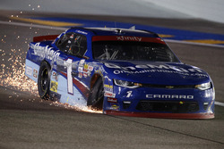 Elliott Sadler, JR Motorsports Chevrolet with sparks after losing the championship
