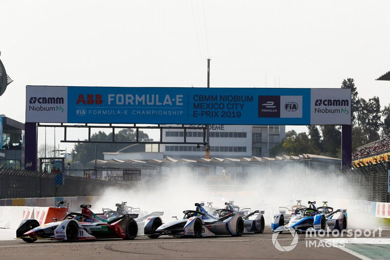 Lucas Di Grassi, Audi Sport ABT Schaeffler, Audi e-tron FE05, Felipe Massa, Venturi Formula E, Venturi VFE05 y Sébastien Buemi, Nissan e.Dams, Nissan IMO1