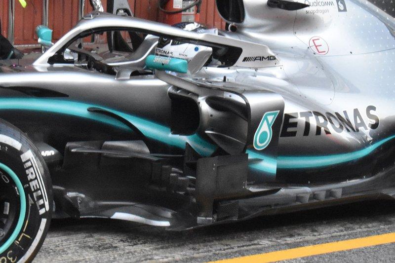 Mercedes AMG F1 W10 side detail